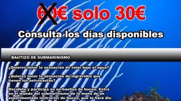 Bautizo de submarinismo en Mataró